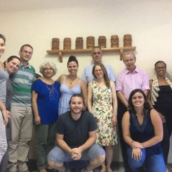 Alunos do Curso Básico de Antroposofia de Juiz de Fora (MG) com os coordenadores Dr. Antônio Marques e Daniela Benício e o docente